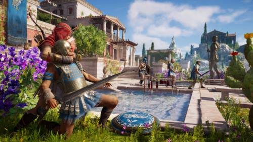 Ein Schleichangriff in Assassin's Creed Odyssey