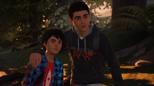 Screenshot aus Life is Strange 2: Sean und Daniel