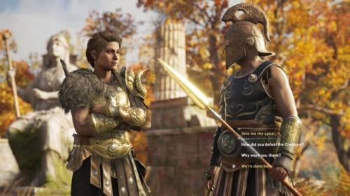 Assassin's Creed Odyssey - Screenshot eines Dialoges mit einem Söldner