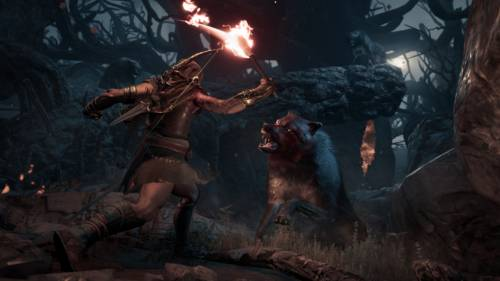 Assassin's Creed Odyssey - Screenshot eines Wolfangriffs
