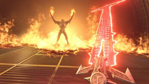 DOOM Eternal - Screenshot eines Schwertes