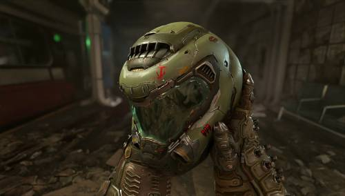 DOOM Eternal - Screenshot des Slayer-Helms